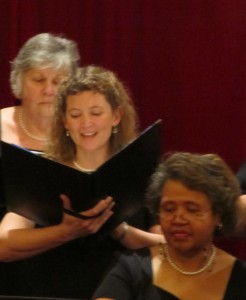"""Soloists Cathy ter Weele singing the Bach/Gonoud """"Ave Maria."""""""
