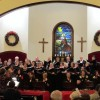 """We had a wonderful Christmas concert season.  We sang carols at the Community Tree Lighting in Culpeper, and sang our concert program for and with folks at the Boxwood Center. We then performed an Evening Out concert at Prince Michel Vineyards.  Our final """"Sing We Now of Christmas"""" concert was at Reynolds Memorial Church in Sperryville, where we were accompanied by the Culpeper Presbyterian Church Handbell Choir.  It was a terrific concert in a beautiful, historic setting, and Reynolds rang with Christmas spirit and joy!"""