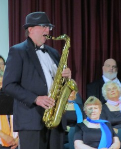 Doug Schmit soloing &quot;New York State of Mind&quot; on the sax.
