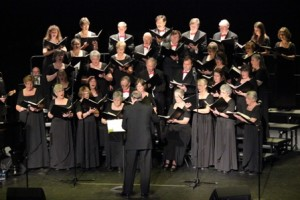 The Chorale with Director Bob Burnett at the State Theatre December 7, 2014.