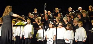 Cathy ter Weele directing the Youth Chorale December 7, 2014